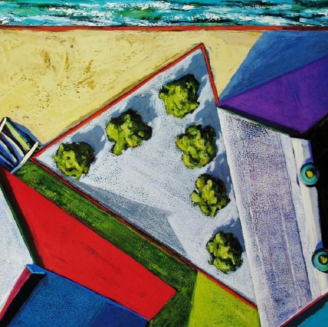 Abstract Modern Art Print Architectural Birds Eye View - 2