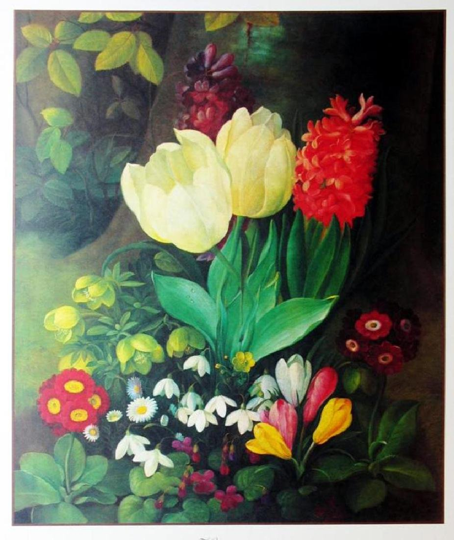 1998 Tulips & Hyacinth Litho On Arches Paper