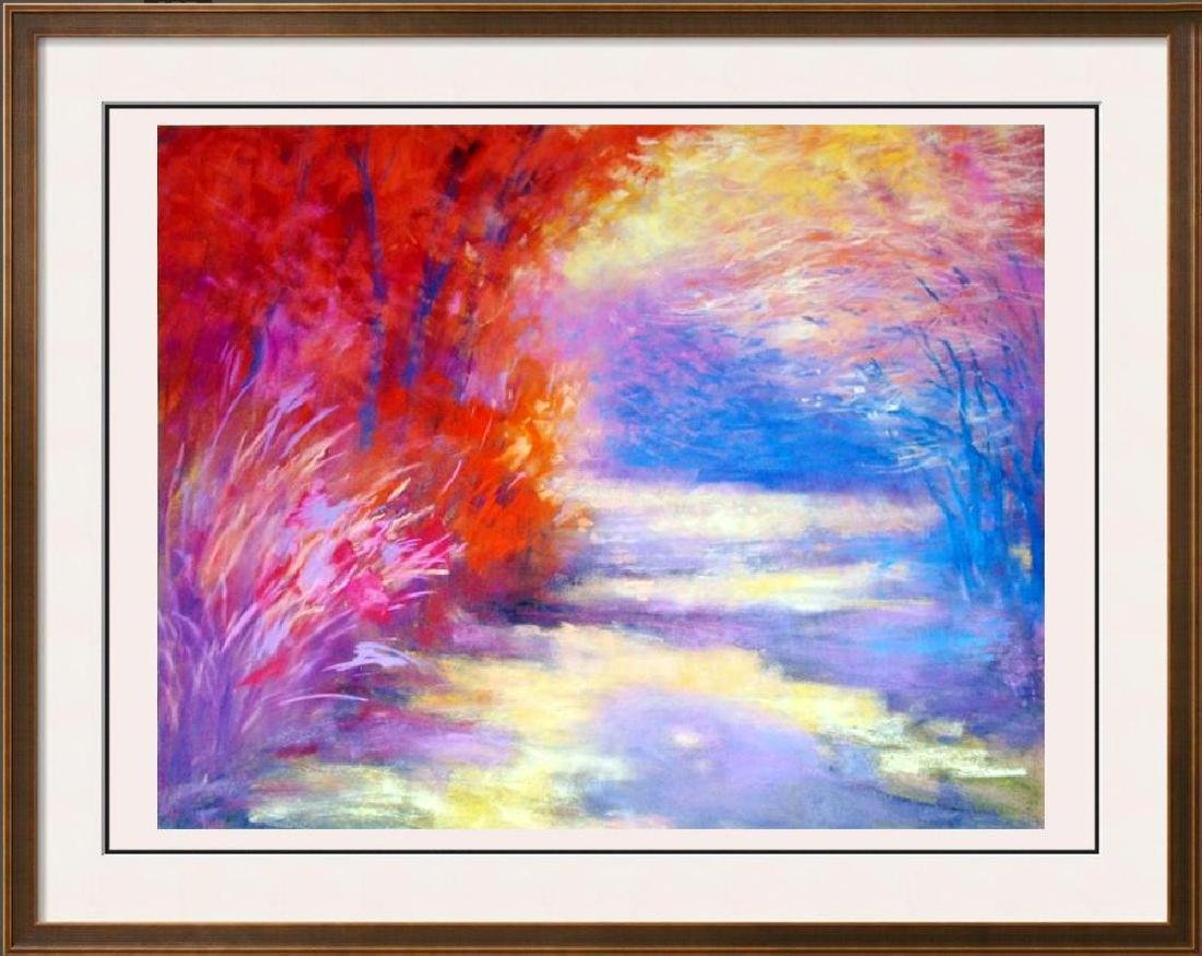 1998 D'Hooge Meras Landscape Colorful Abstract