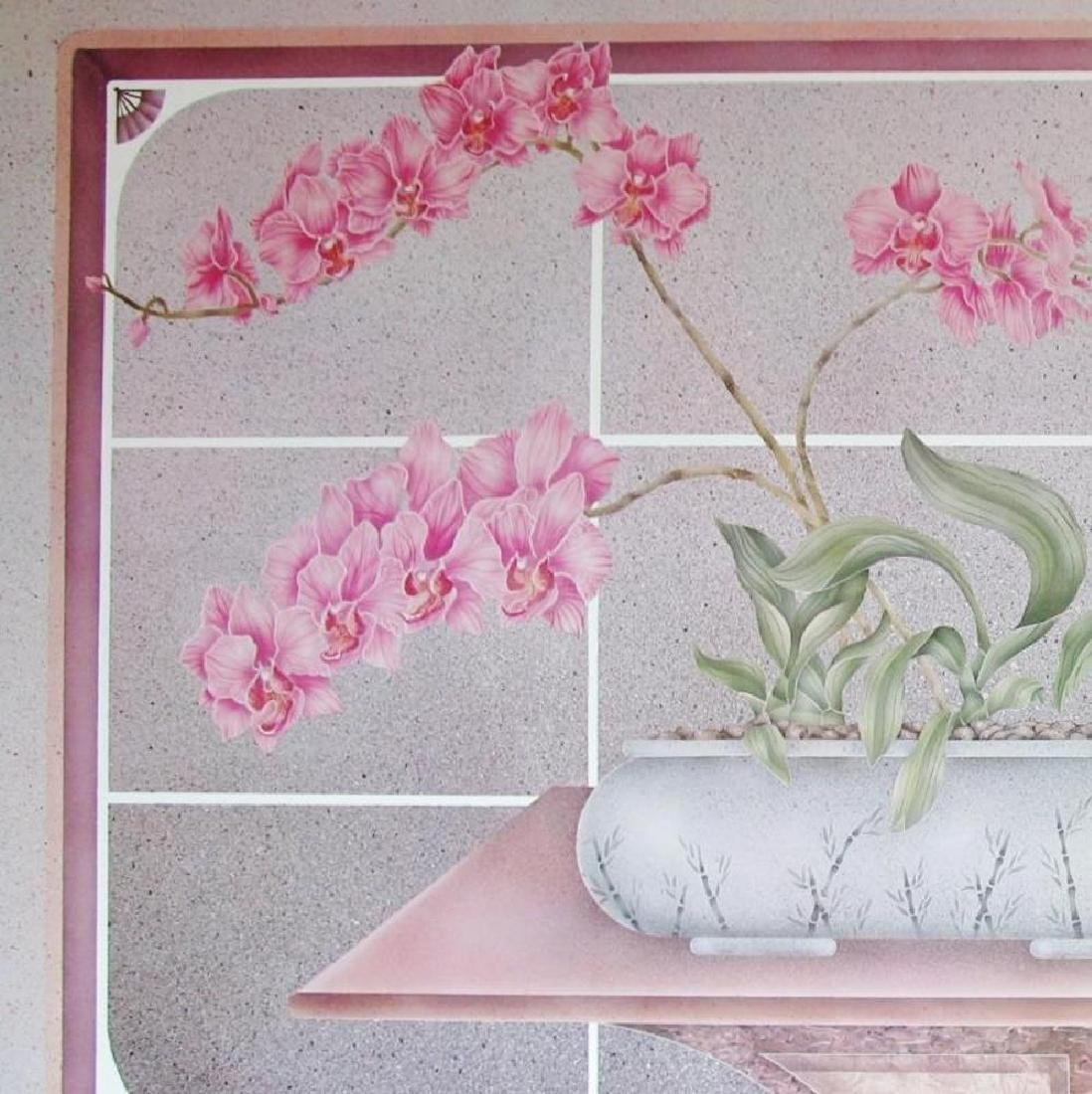 Two Piece Diptych Floral Pink Large Beautiful - 3