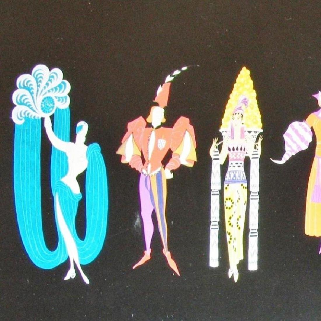 Erte People Figures Some Scratches Plate Signed - 2