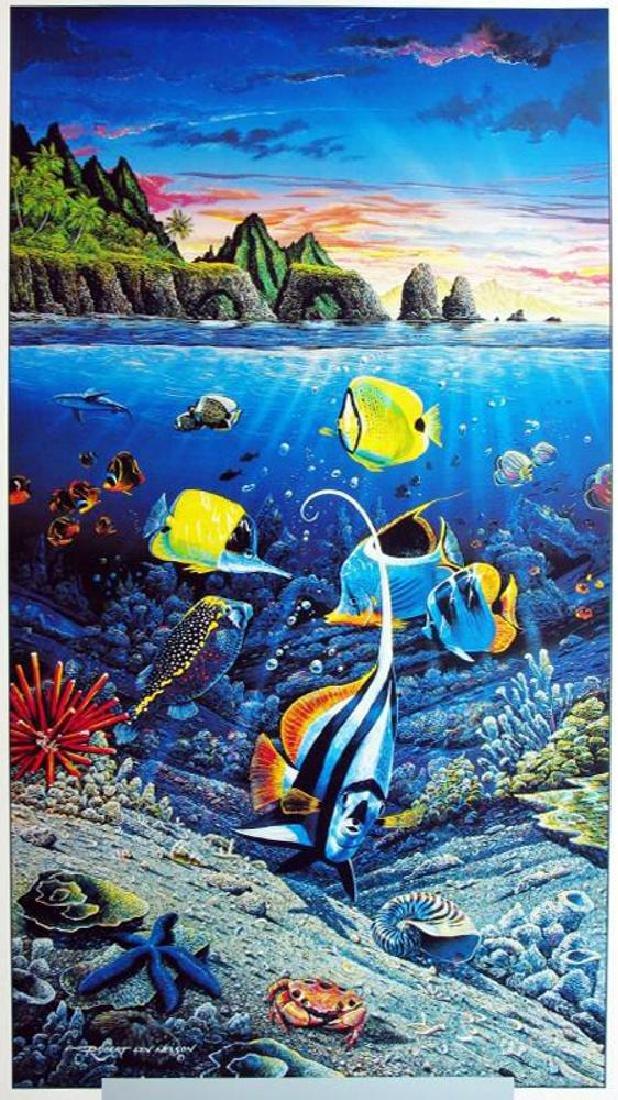 Ocean Sea Creatures Under Water Tropical Fish Scene - 2