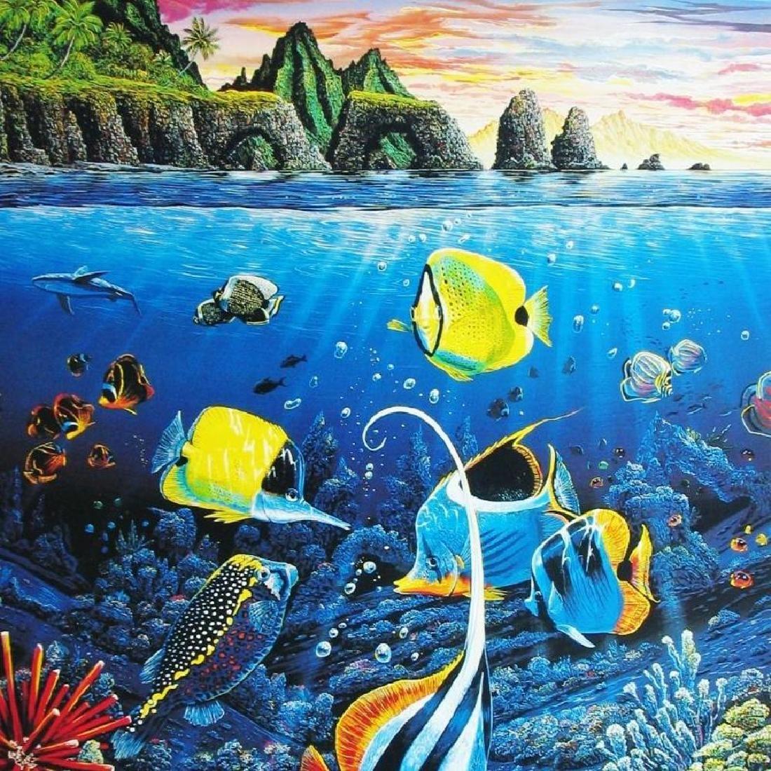 Ocean Sea Creatures Under Water Tropical Fish Scene - 3