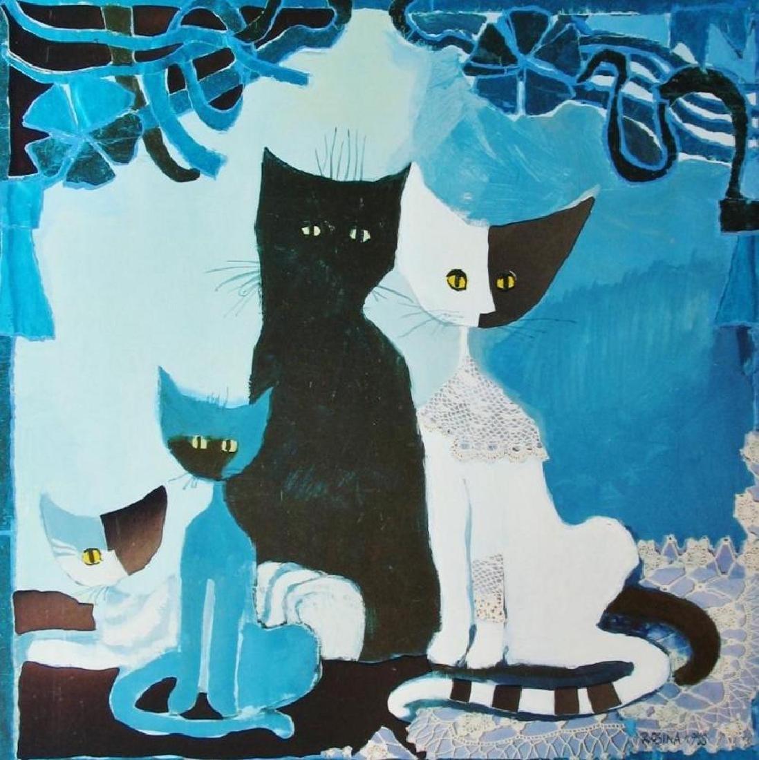 Rosina Wachtmeister Cats Kittens Modern Abstract Art - 3