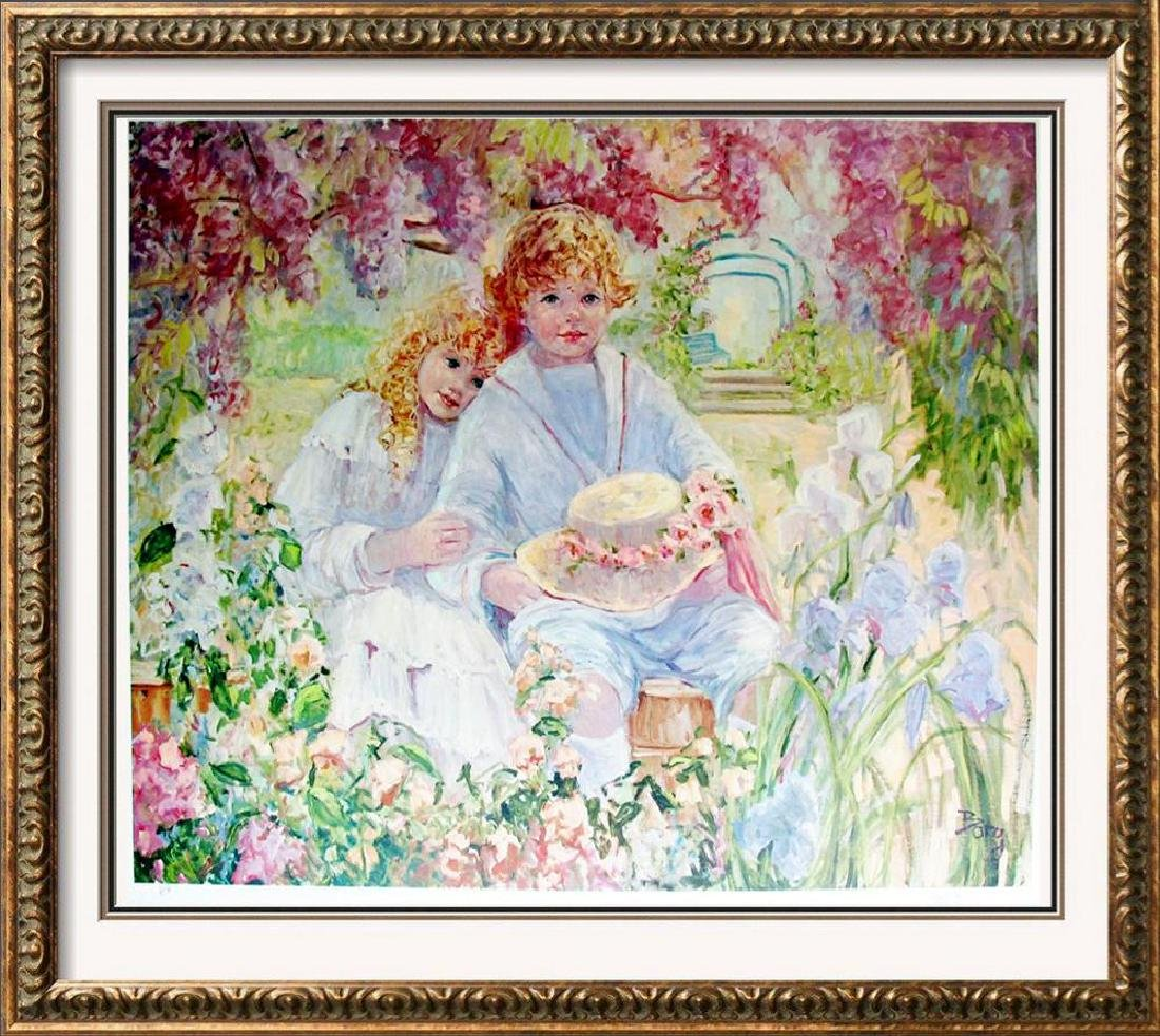 Hand Signed Limited Edition Ap Impressionism Children