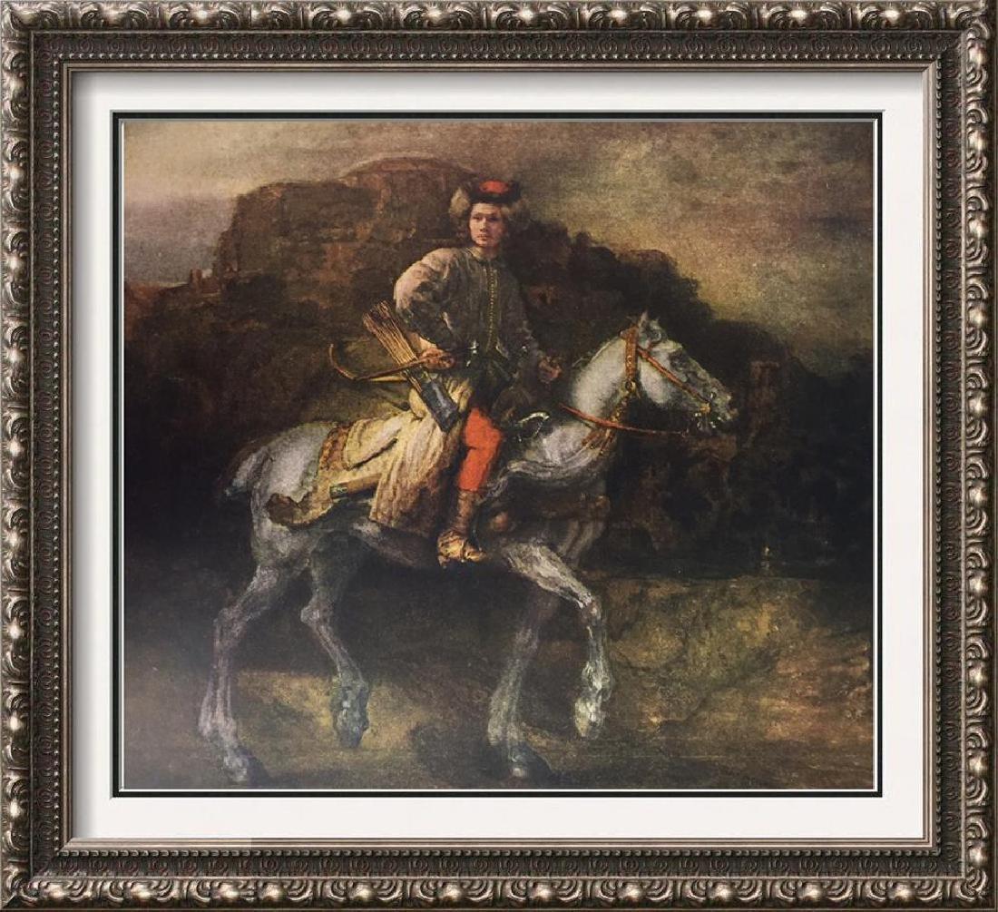 Rembrandt The Polish Rider c.1655 Fine Art Print Signed