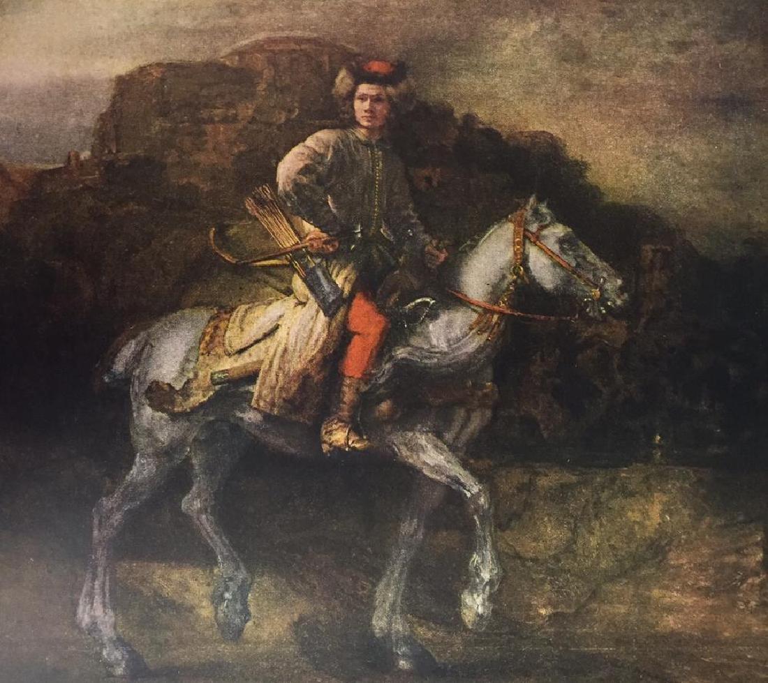 Rembrandt The Polish Rider c.1655 Fine Art Print Signed - 2