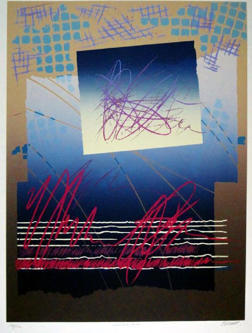 Colorful Abstract Modern Hand Signed Ltd Ed Serigraph - 2