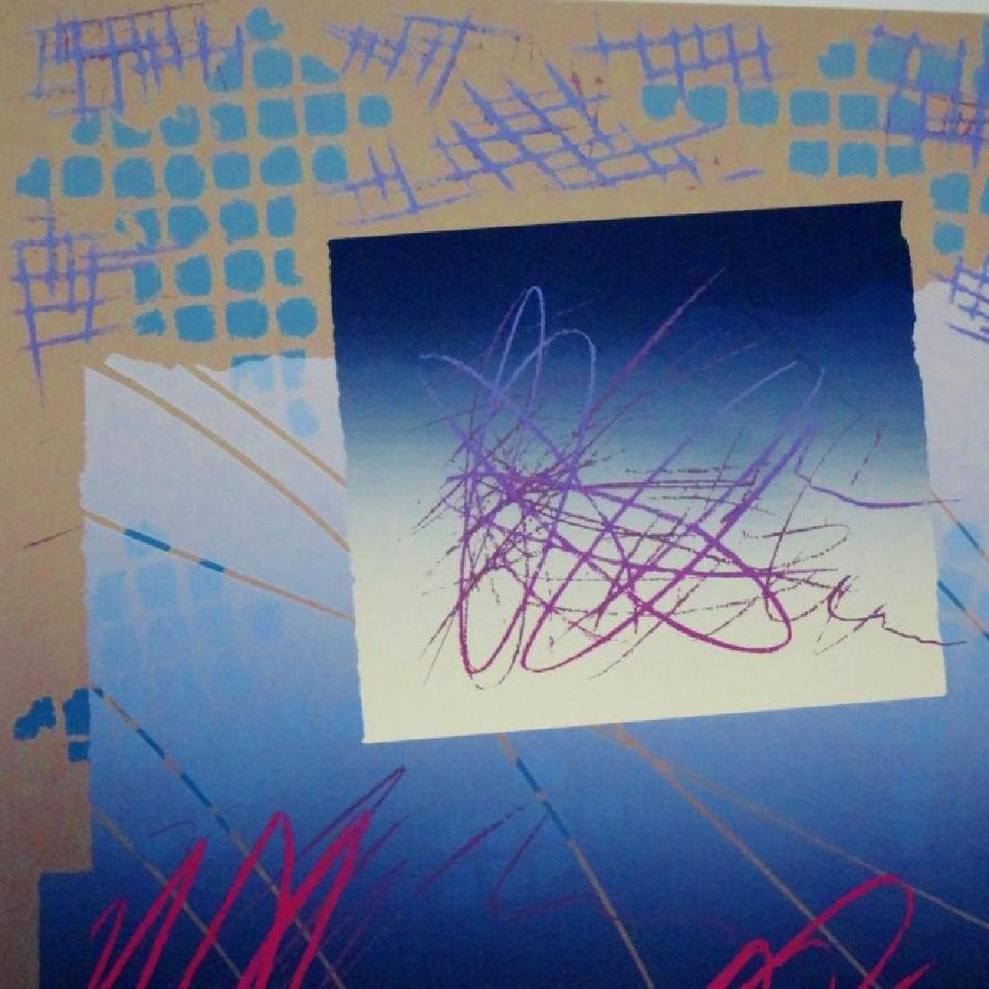 Colorful Abstract Modern Hand Signed Ltd Ed Serigraph - 3