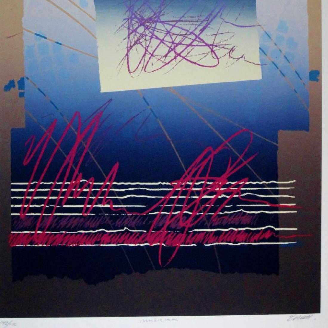 Colorful Abstract Modern Hand Signed Ltd Ed Serigraph - 4