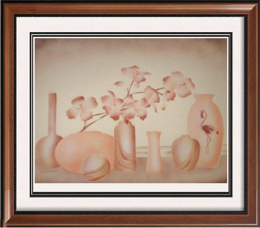 Vase Pastel Colored Limited Edition Litho