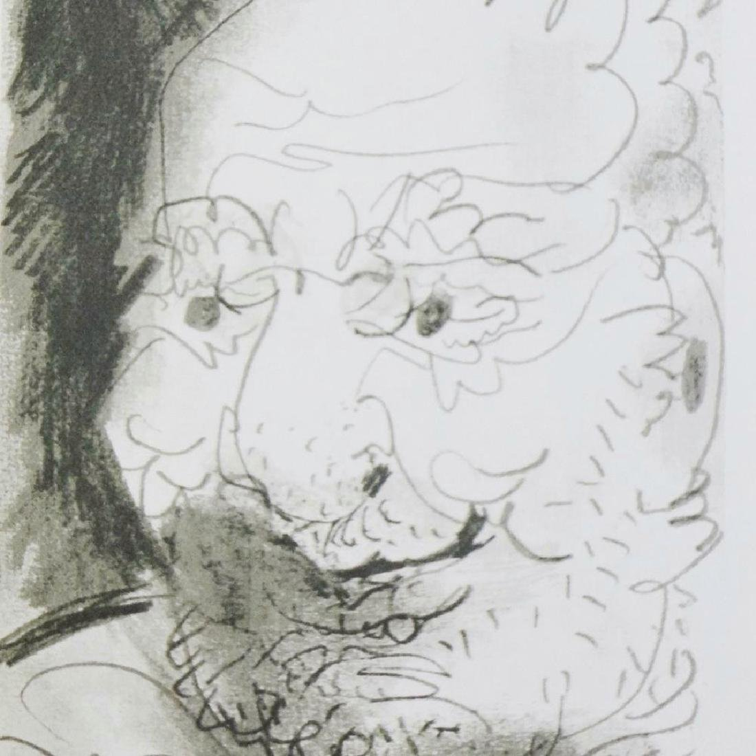 PICASSO PORTRAIT ABSTRACT LINE DRAWING 6.10.64 - 4