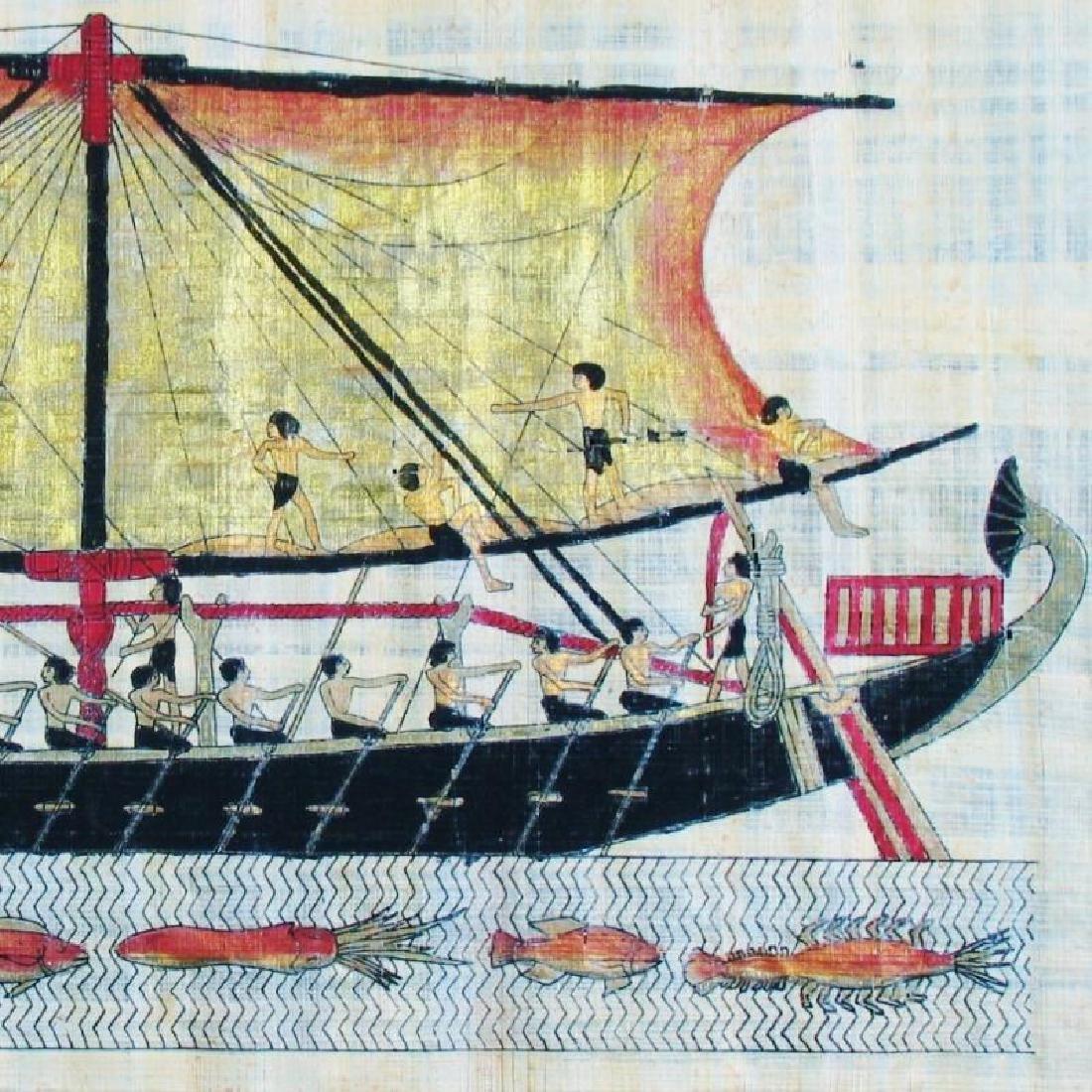 Original Egyptian Art Papyrus Painting Liquidation Sale - 4