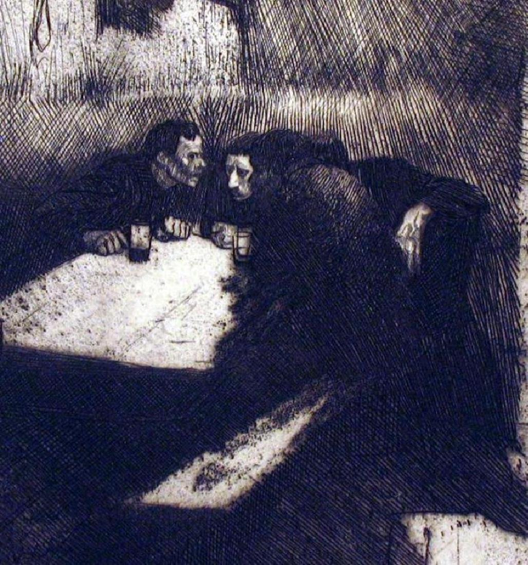 Fantastic Etching Kathe Kollwitz Etching on Paper - 3