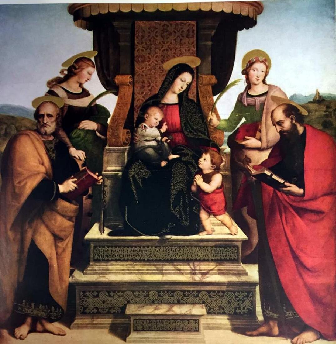 Masterpieces Raphael: The Madonna and Child Enthroned - 2