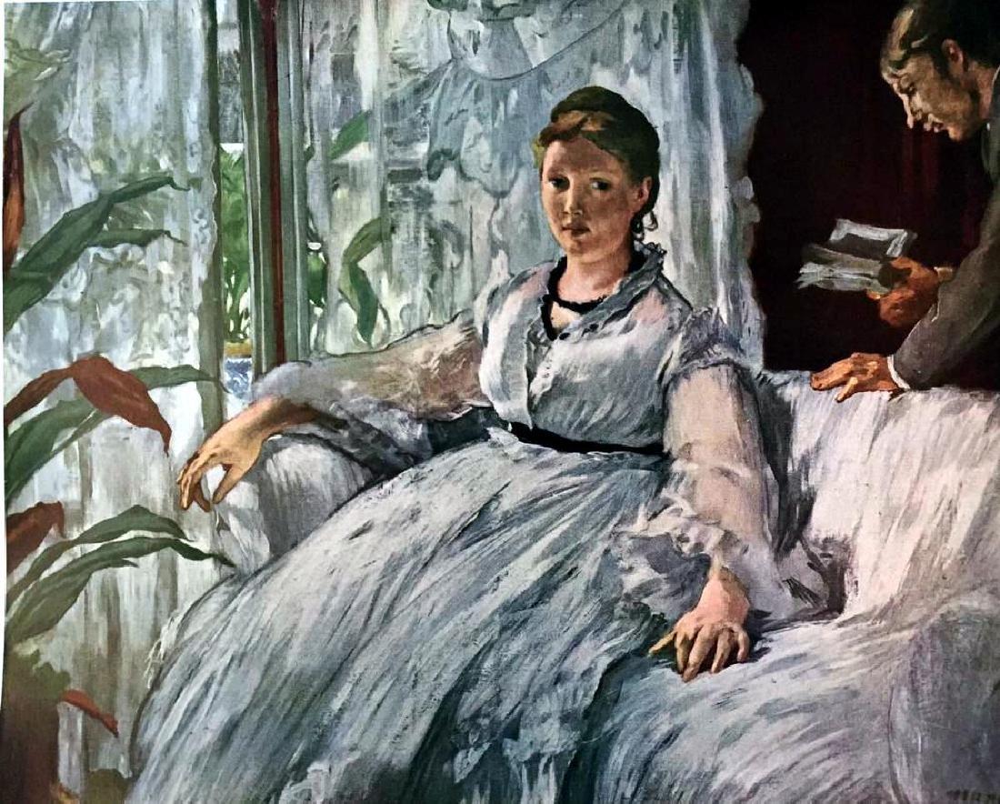 Manet Peintures La Lecture c.1868 Fine Art Print Signed - 2