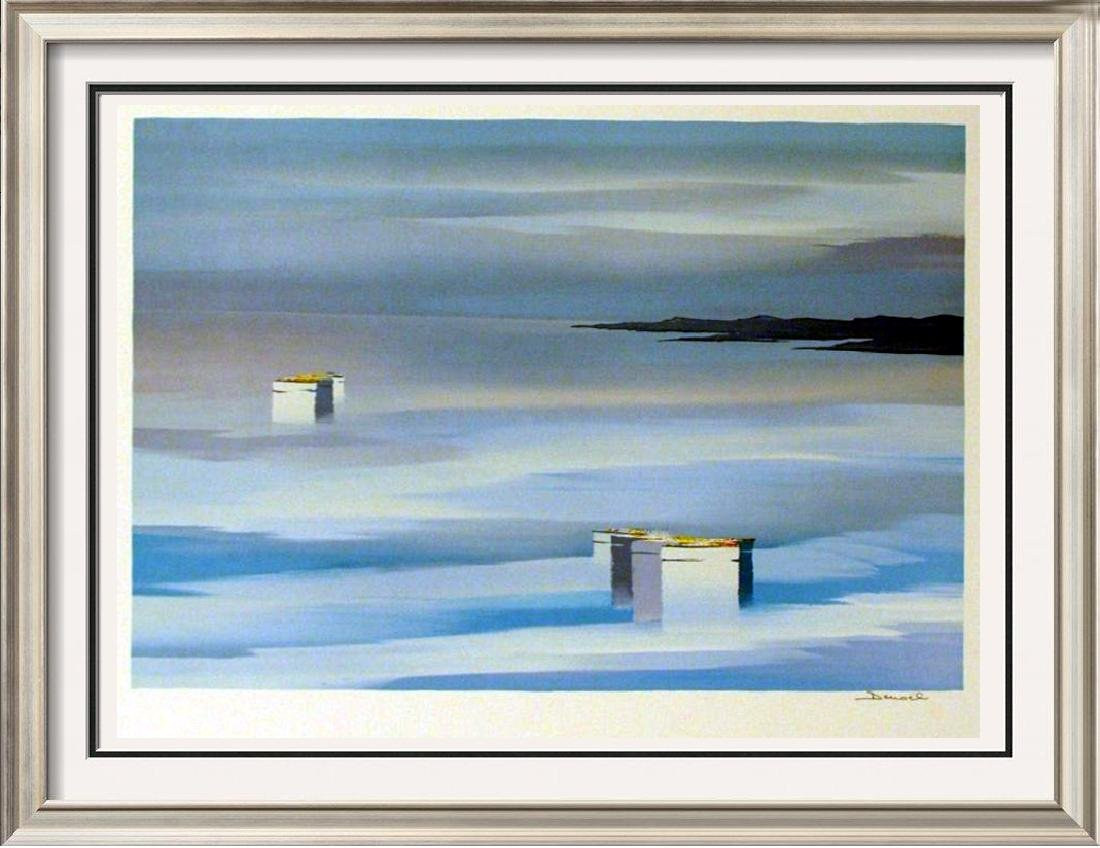 SIGNED COLORFUL ABSTRACT SURREAL LANDSCAPE SALE