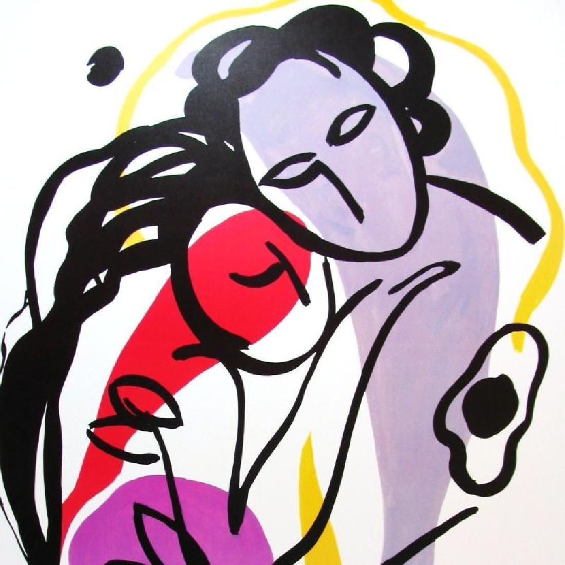 The Hug Print Colorful Modern Art Cheap! - 2