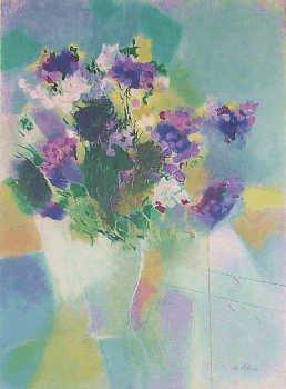 1958: Lavender Bouquet Signed Ltd Ed Artist Proof