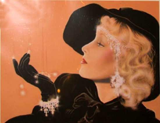 608F: 1920's Style Art Deco Pnecil Signed Limited Editi