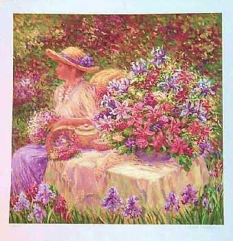 1955F: Floral Scene Ltd Ed Serigraph Sell Out!!