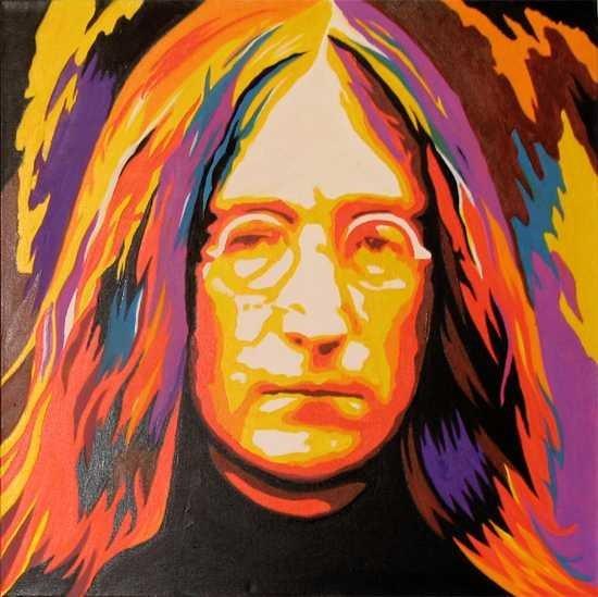 2002F: John Lennon POP Original Oil Painting on Canvas