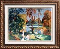 Renoir, Pierre Auguste Peintures Baigneuses Dans Un