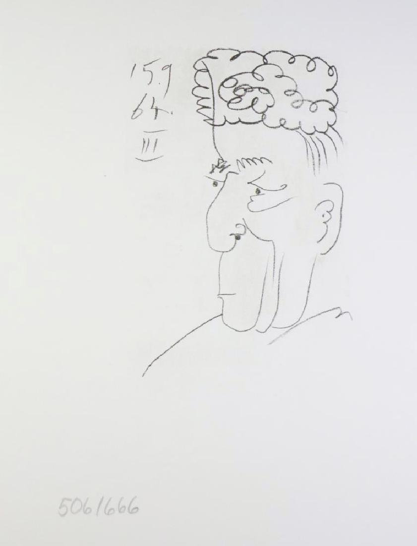 LINE DRAWING STYLE PICASSO LTD ED RARE 1964 COLLECTIBLE - 2