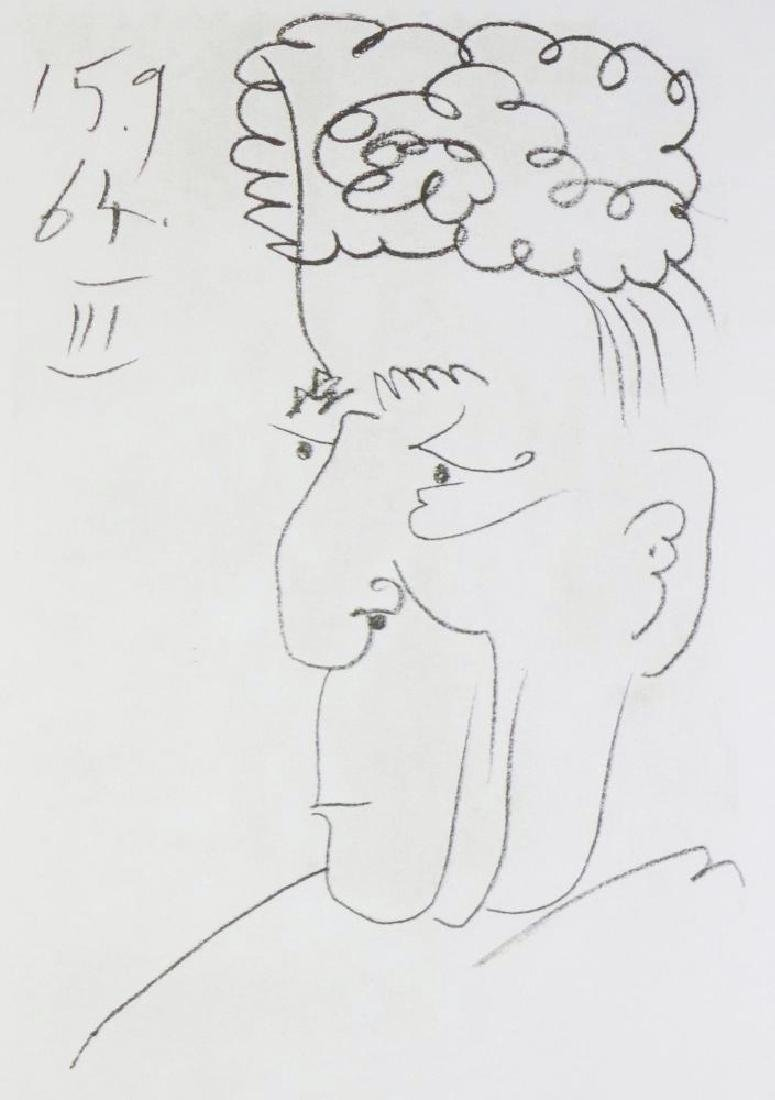 LINE DRAWING STYLE PICASSO LTD ED RARE 1964 COLLECTIBLE - 3