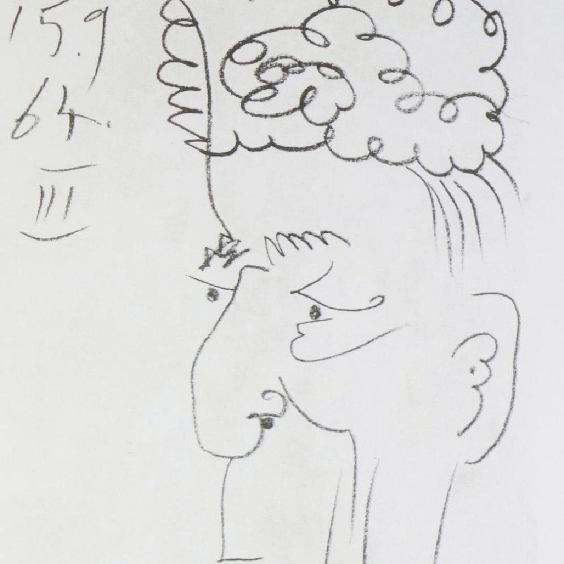 LINE DRAWING STYLE PICASSO LTD ED RARE 1964 COLLECTIBLE - 4