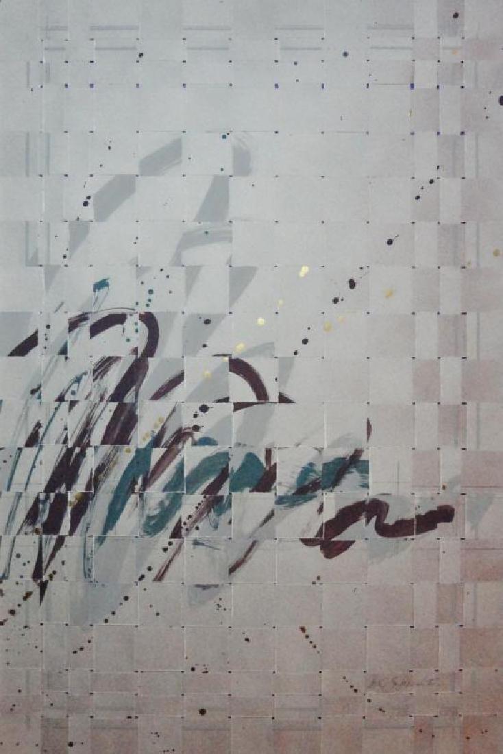 2 Piece Textured Weaved Mixed Media Abstract Modern Art - 3