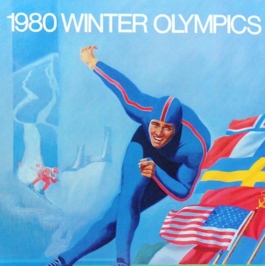 1980 Winter Olympics Print Hand Signed Donald Moss - 2