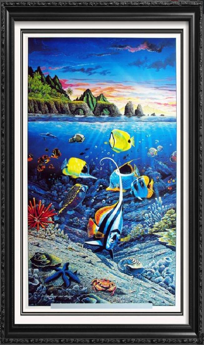 Ocean Sea Creatures Under Water Tropical Fish Scene
