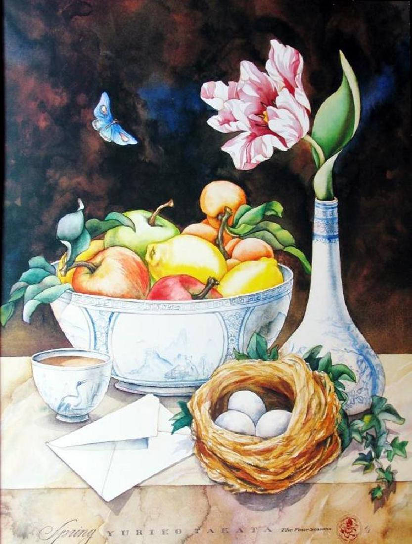 Yuriko Takata 1992 Four Seasons Colorful Print