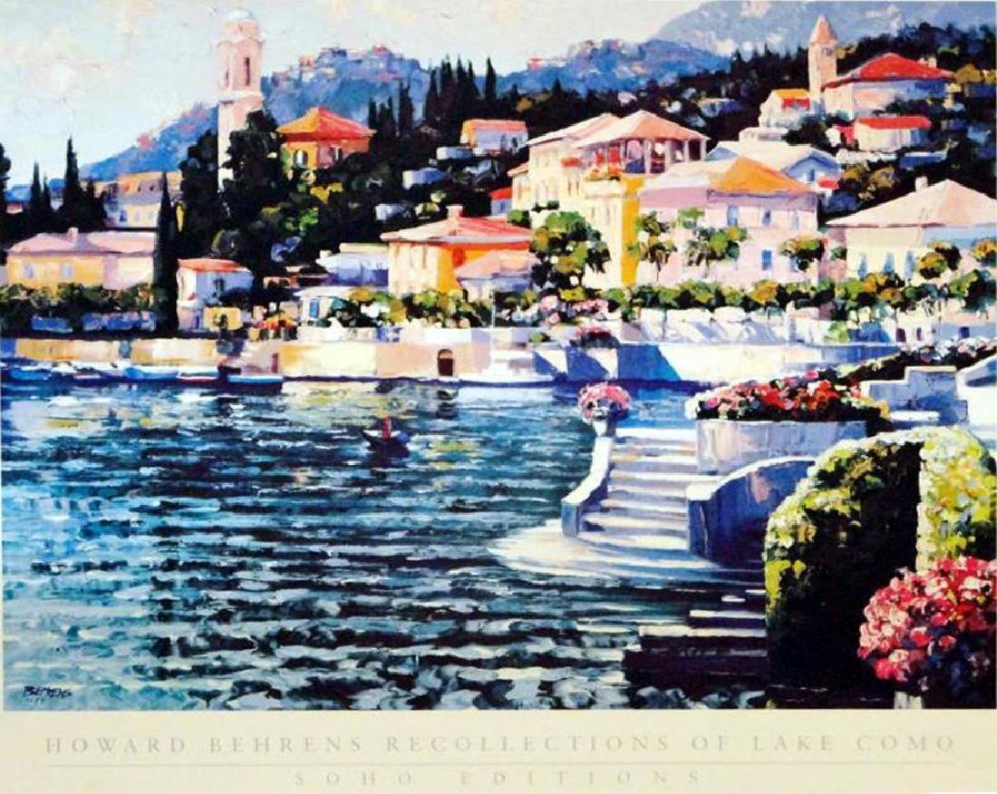 Howard Behrens Colorful Art Print Lake Como Sale - 2