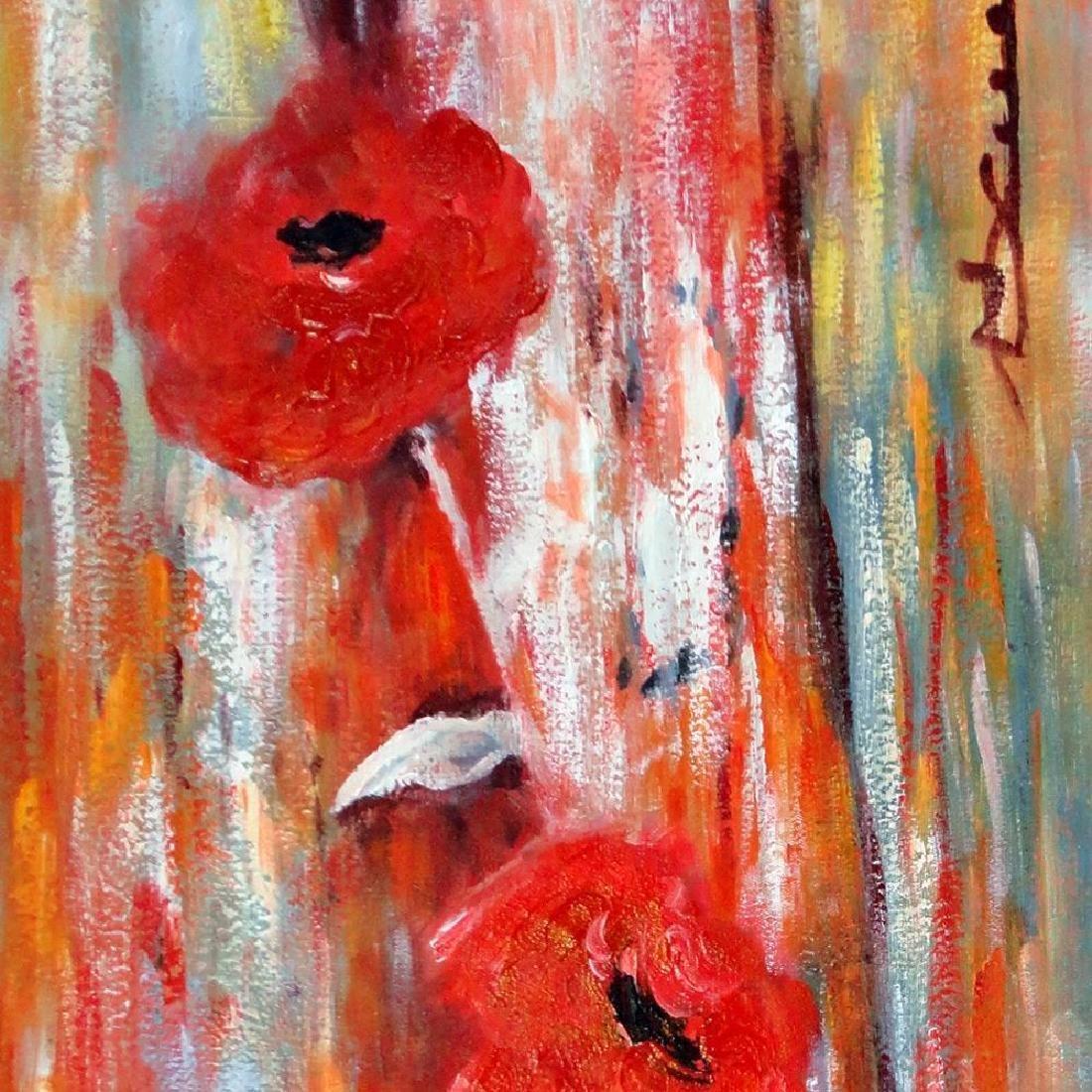 Floral in Vase Large Painting on Canvas Swahn Original - 4