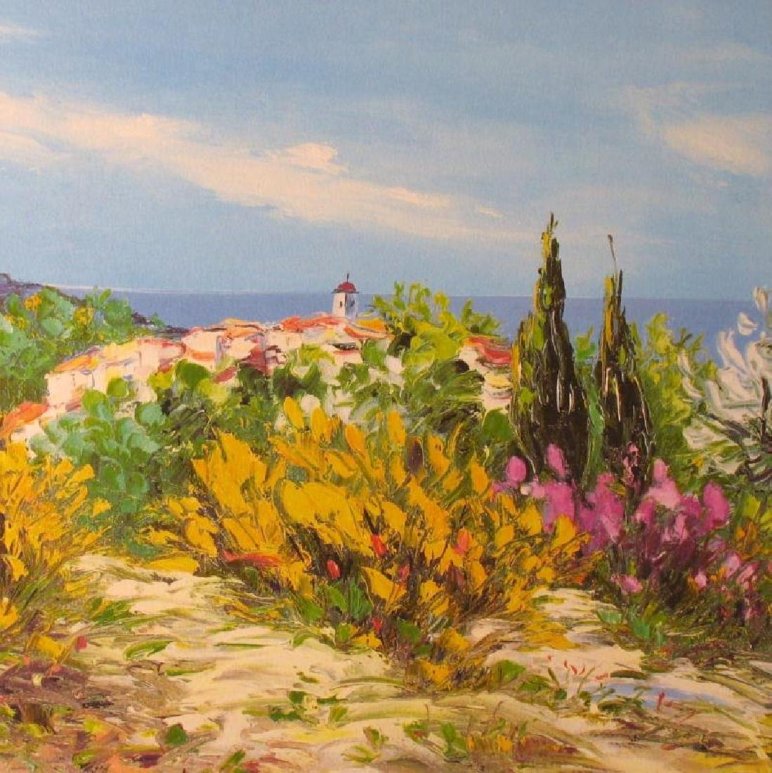 COLORFUL LANDSCAPE SIGNED LIMITED EDITION LITHOGRAPH ON - 3