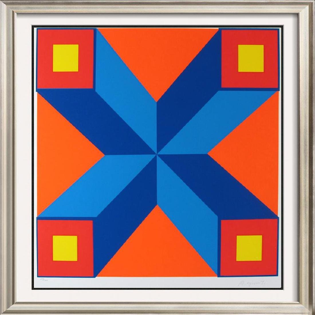 Abstract Vasarely Style Ltd Ed Huge Art Colorful