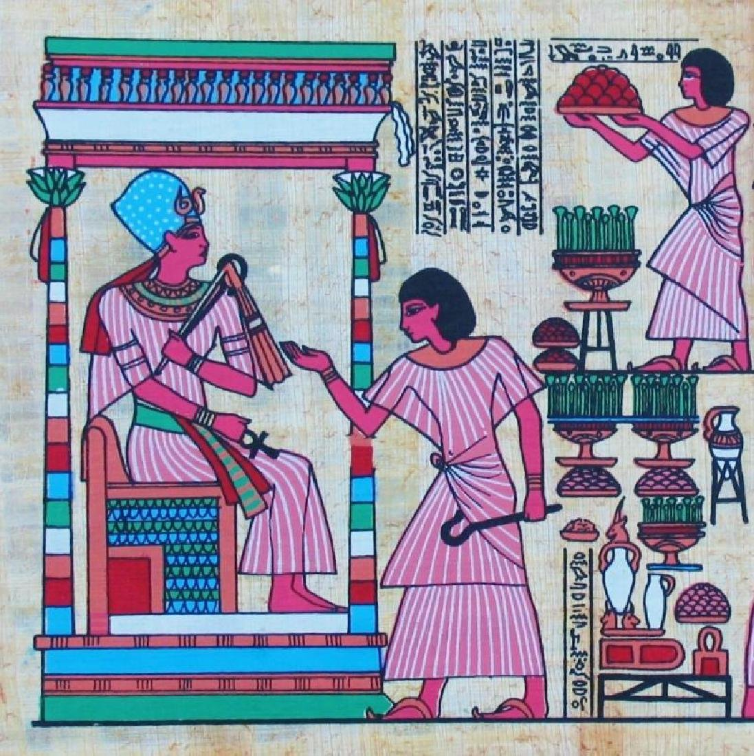 Original Egyptian Art Papyrus Painting Liquidation Sale - 2
