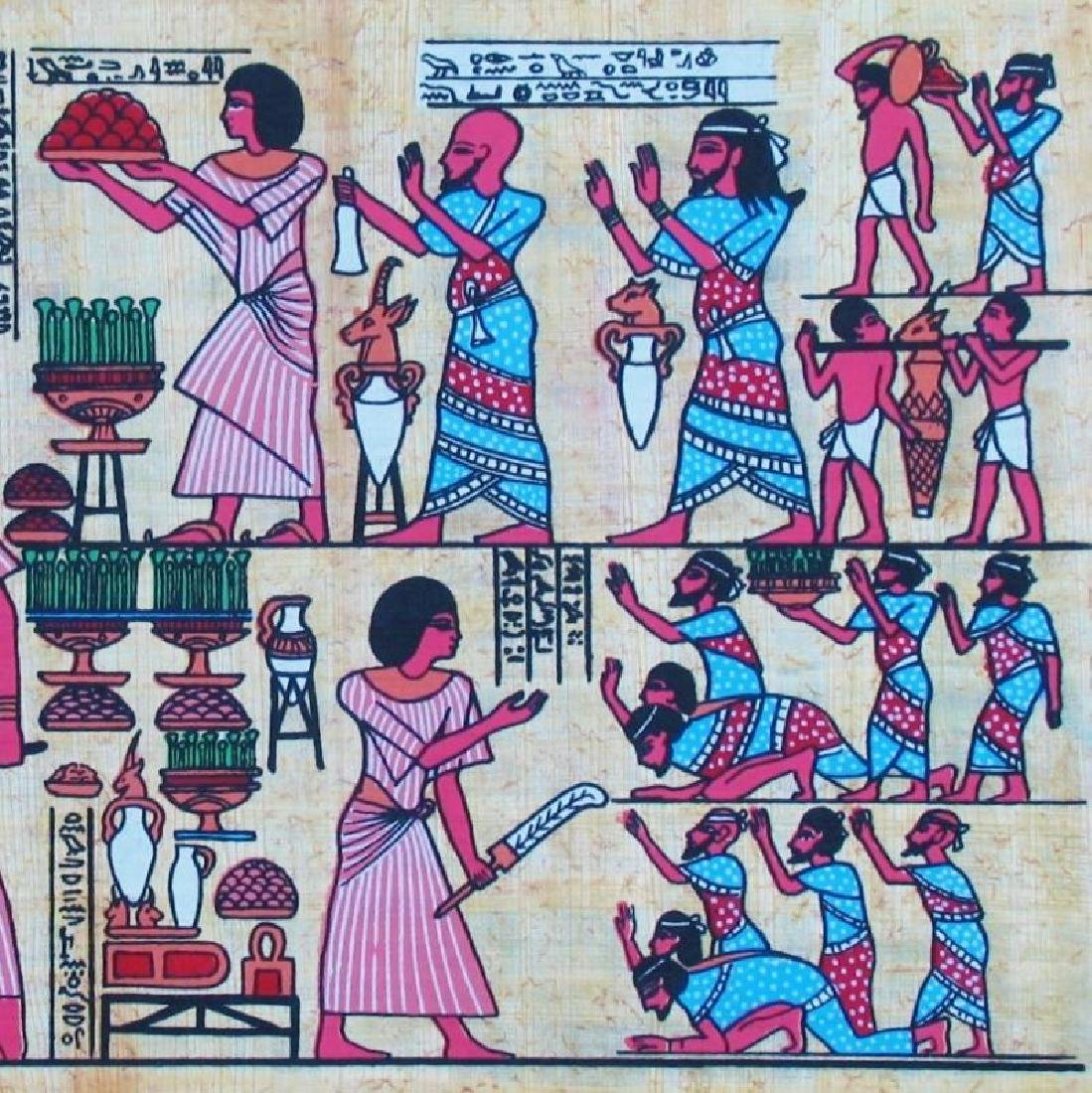 Original Egyptian Art Papyrus Painting Liquidation Sale - 3