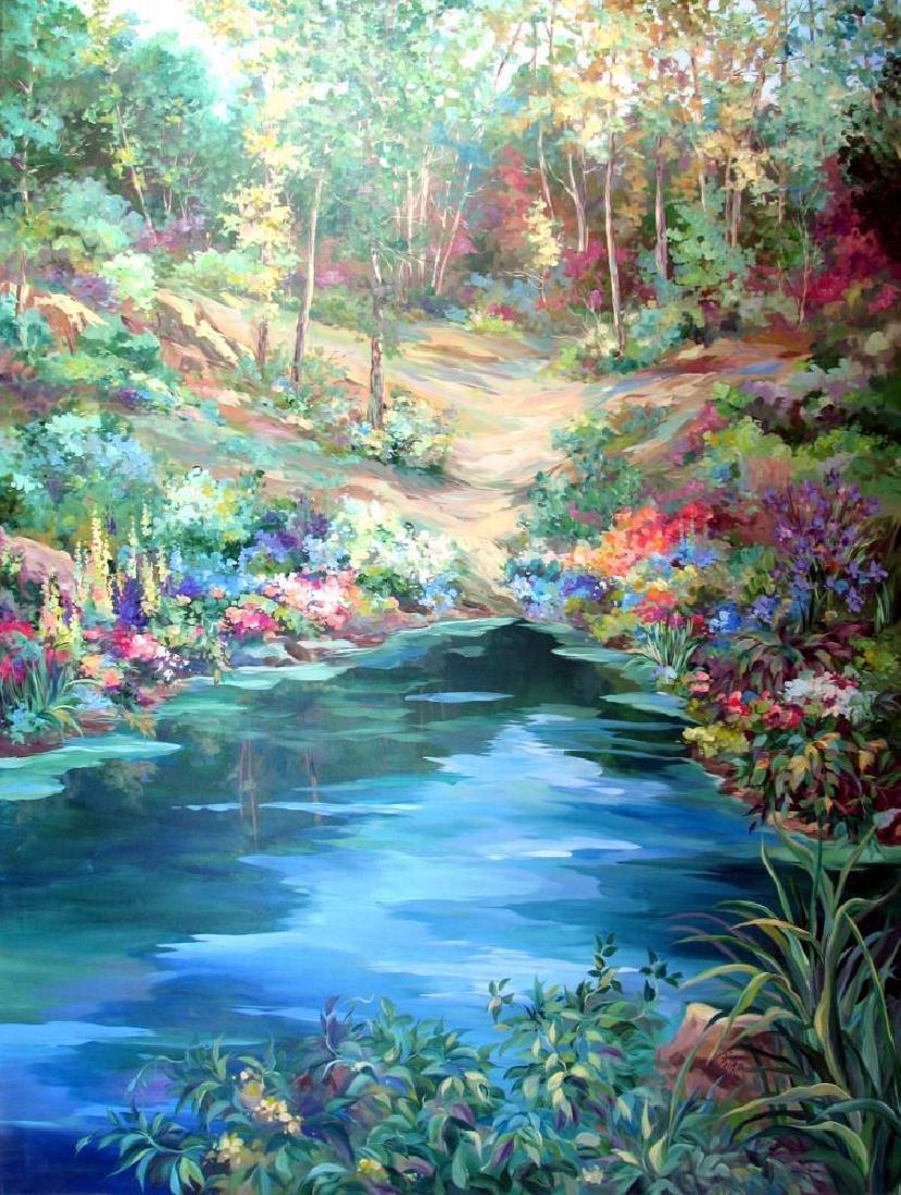 Waterfall Landscape Original Acrylic DEALER ART - 2