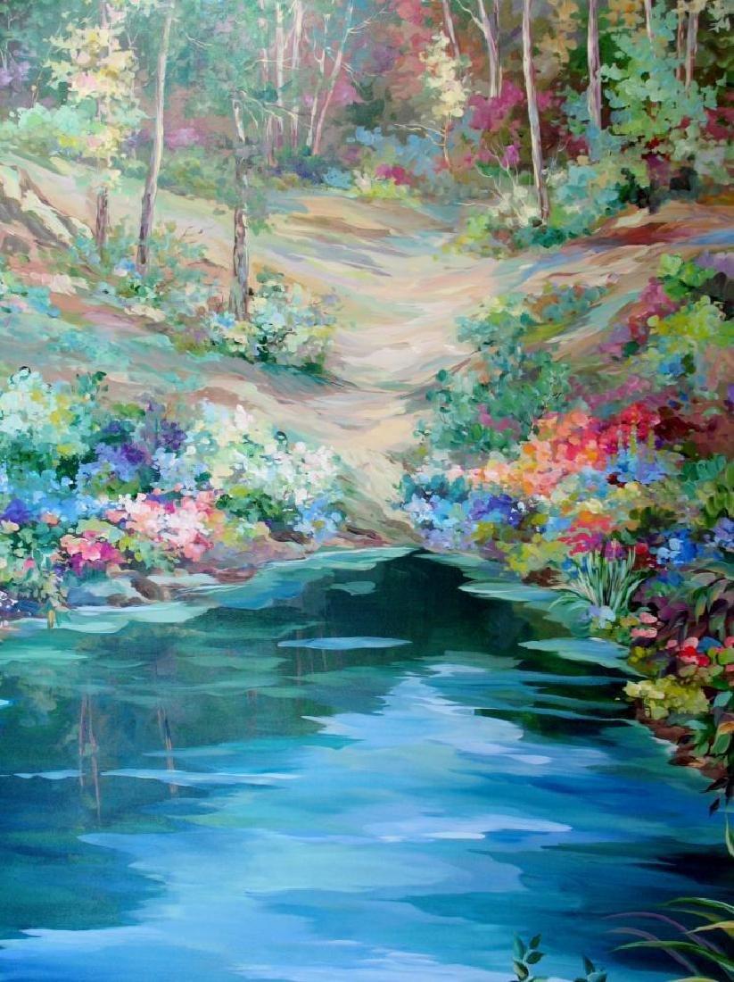 Waterfall Landscape Original Acrylic DEALER ART - 3
