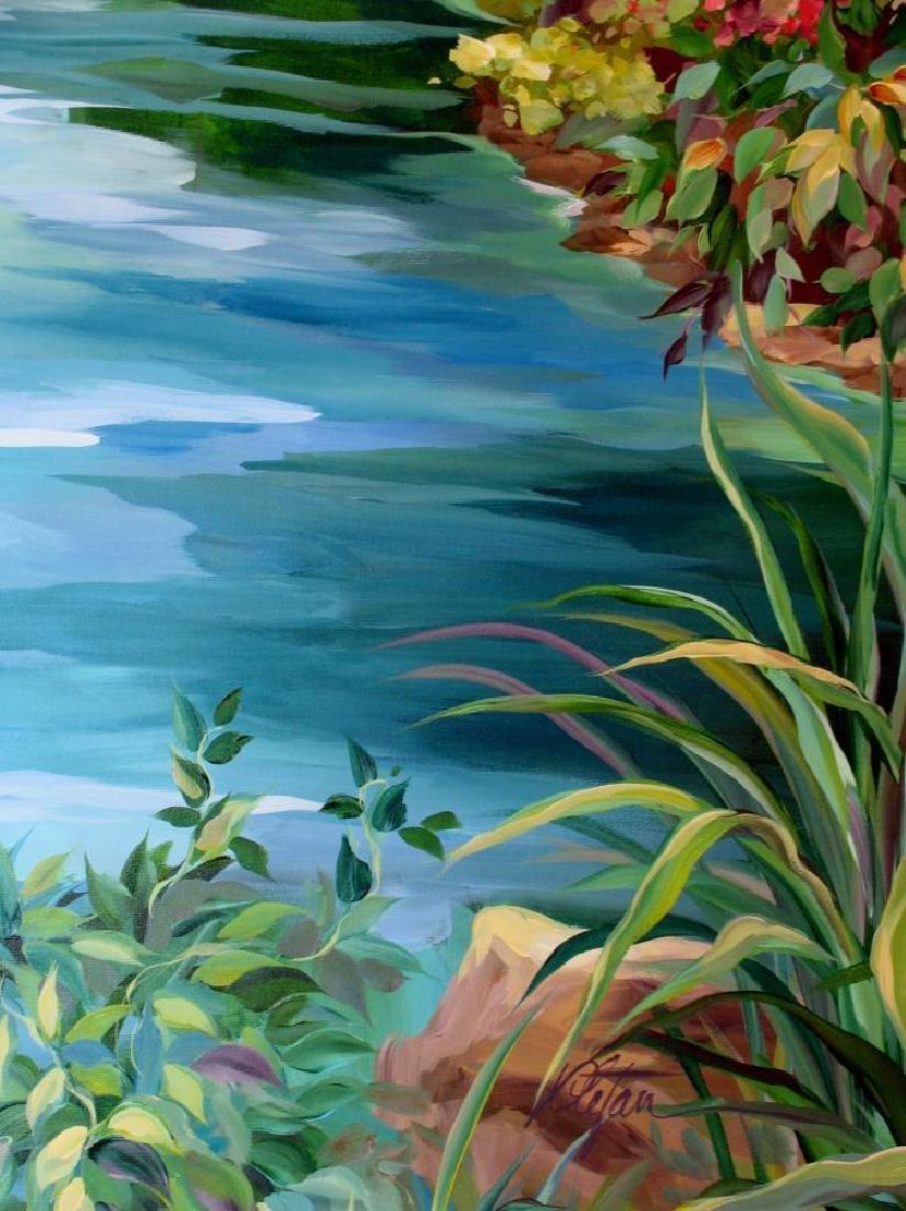 Waterfall Landscape Original Acrylic DEALER ART - 4