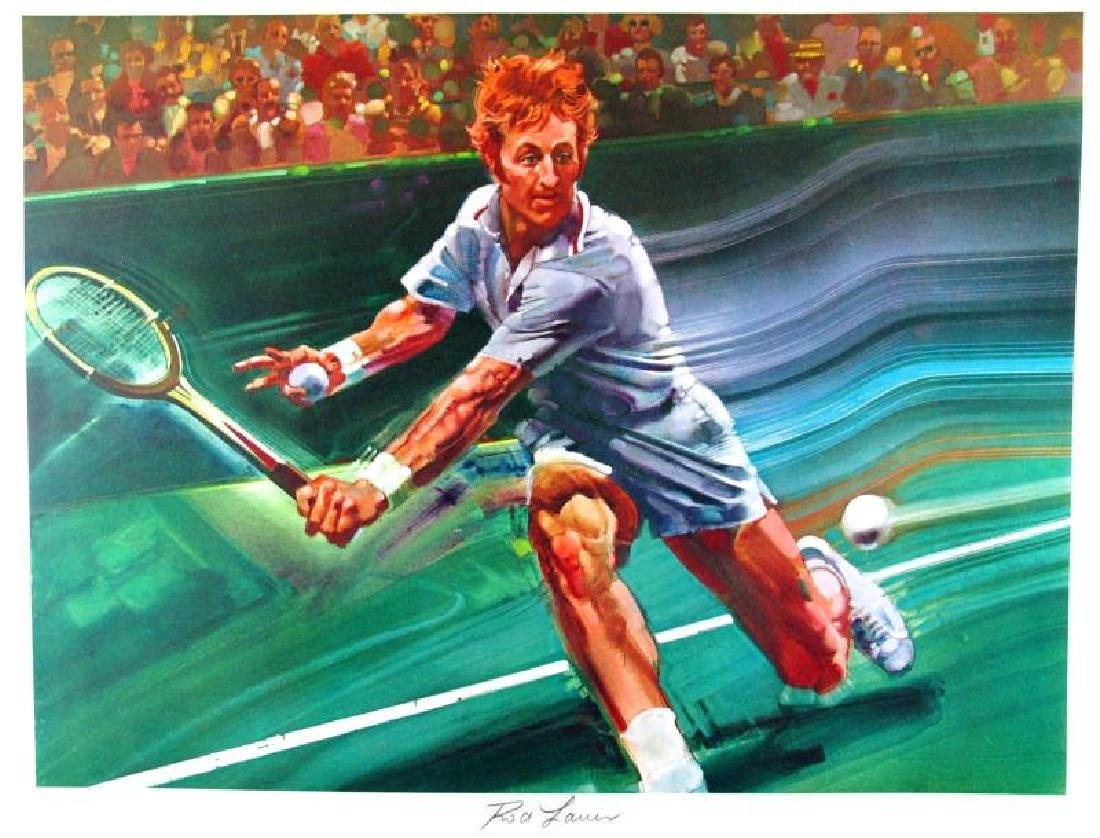 Tennis Star Rod Laver Neiman-Style Ltd Ed Signed