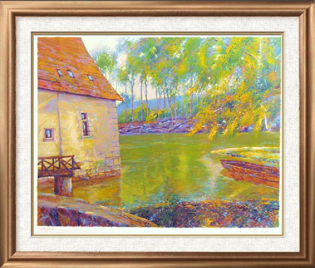 Impressionistic Sipos Water Scene Fantastic Value