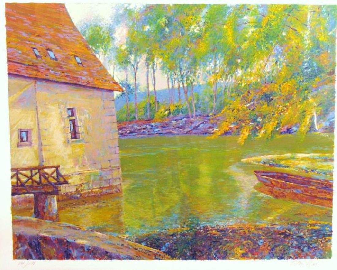 Impressionistic Sipos Water Scene Fantastic Value - 2