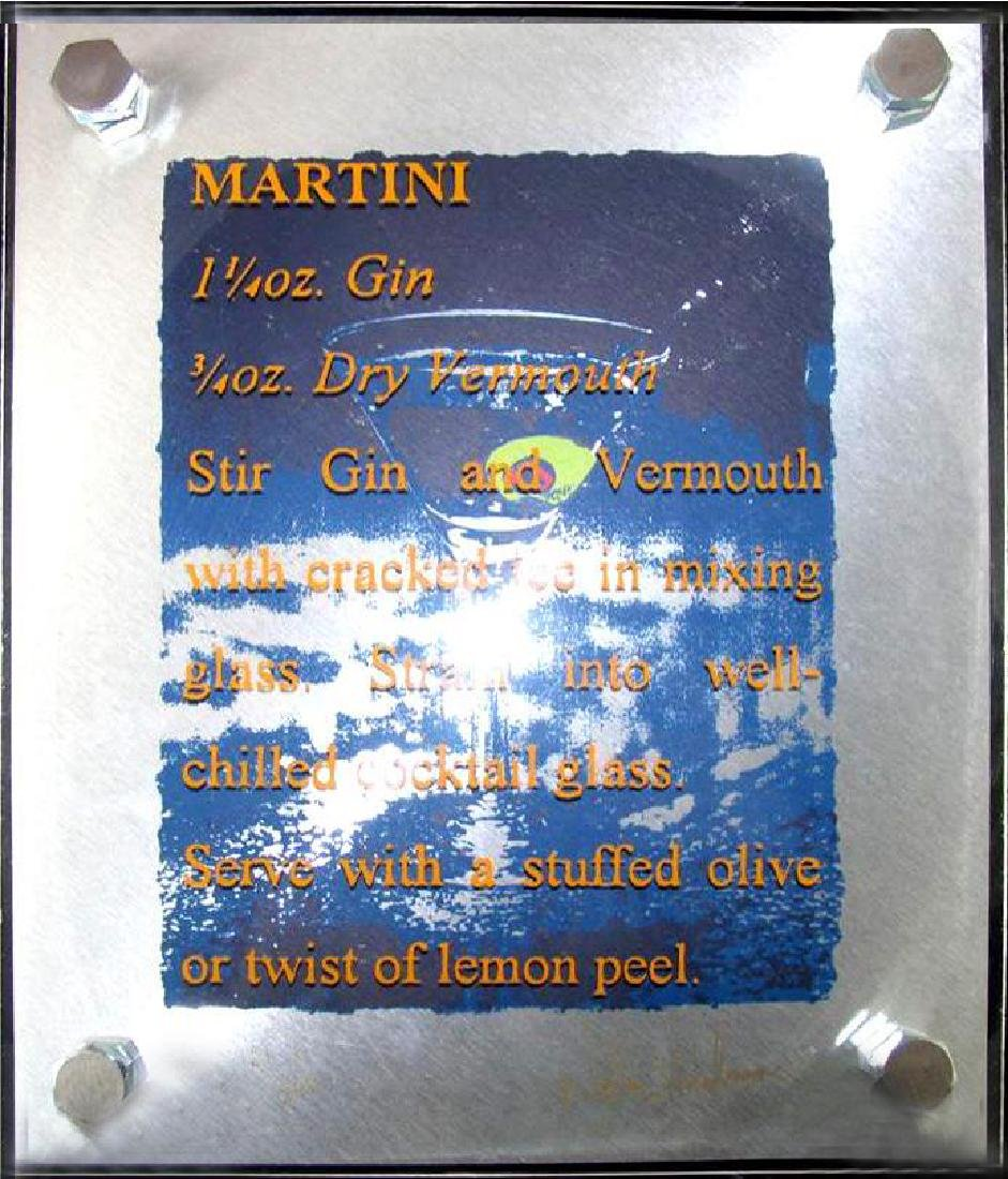 4 Martini Stainless Stell Signed Suite Unique Rare Art - 4