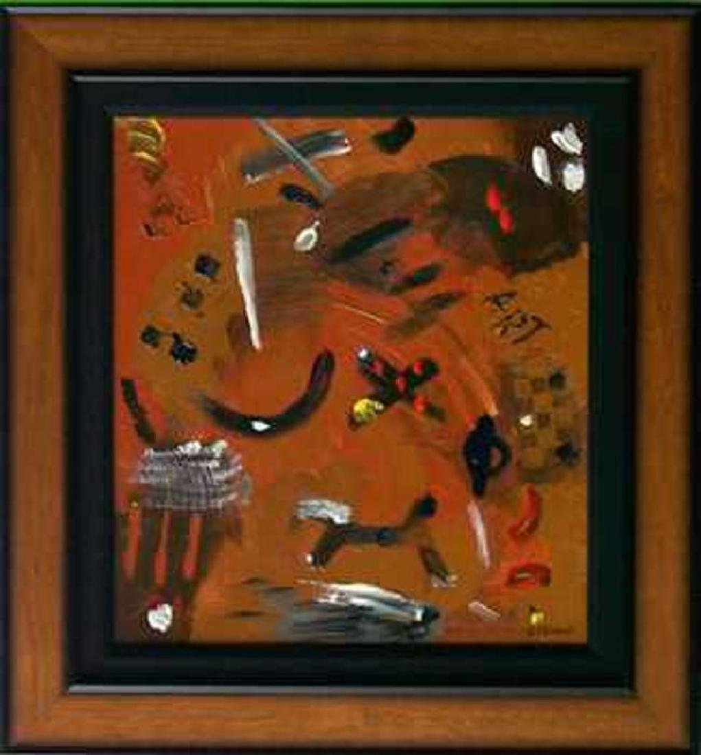 Fantastic Original Painting on Board Abstract Modern