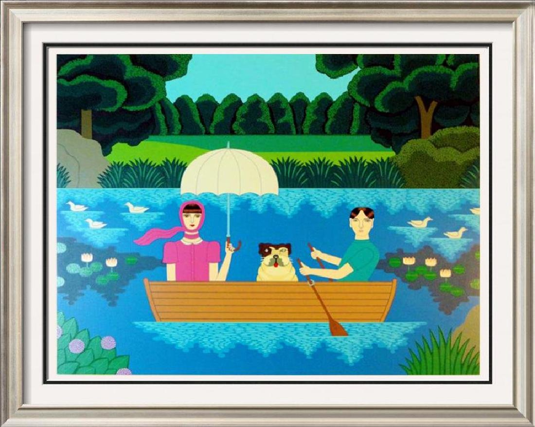 Okumura Boating Couple & Dog Pop Abstract Colorful