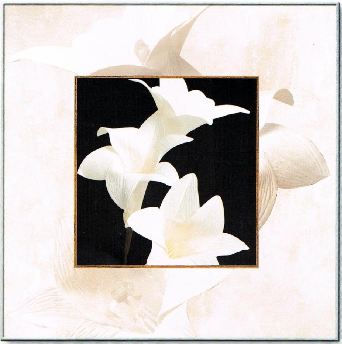 Black & White Canvas Floral Modern Clean Dealer Sale - 2
